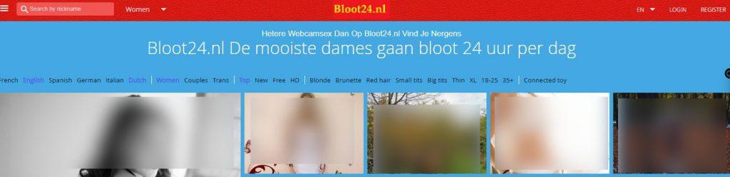 Bloot24 met veel Nederlandse webcam sex dames